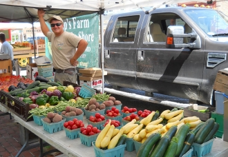 Fresh vegetables at the Centreville Farmers' Market