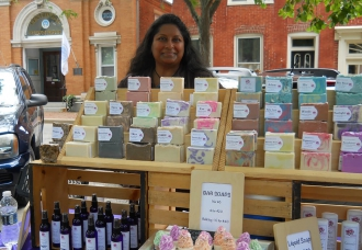 Artisan soaps and lotions at the Centreville Farmers' Market