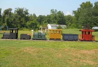 Train at Millstream Park